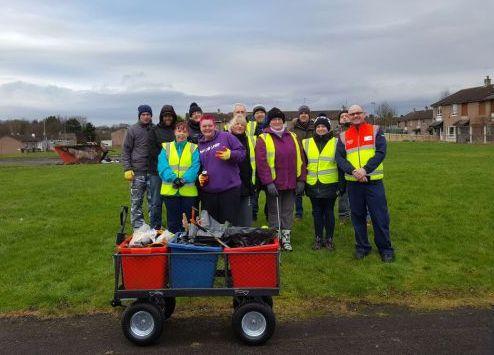 Dunclug volunteers community cleanup